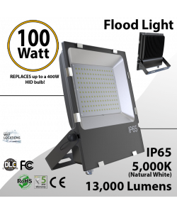 LED Flood light 100W 13000 Lm 5000K IP65 UL DLC
