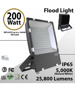 LED Flood light 200W 25800 Lm 5000K Outdoor IP65 UL DLC