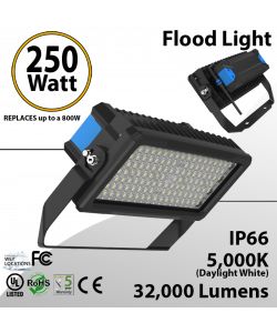 250W LED Floodlight 32000 Lm 5000K IP66 CE UL