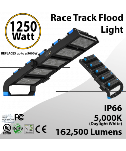 1250W LED Floodlight 162500 Lm 5000K IP66 CE UL