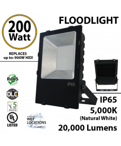 200W LED Floodlight 20000 Lm 5000K IP65 UL DLC