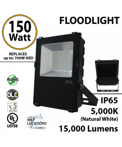 150W LED Floodlight 15000 Lm 5000K IP65 UL DLC