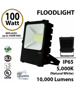 100W LED Floodlight 10000 Lm 5000K IP65 UL DLC