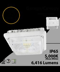 LED Canopy Light and Garage Lighting 55W 5000K 6416 Lumens