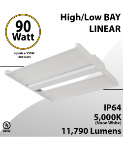 High Bay Led Light 2Ft. 90W 11790 Lumens 5000K UL DLC