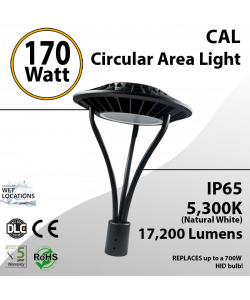 170W LED Landscaping Circular Area Light 17200 Lm 5300K