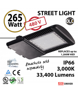 265 Watt LED 1200w Halogen Replacement 33400Lm 480v