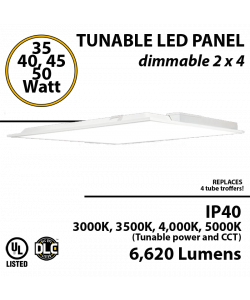 LED Panel Light 2x4 30 35 40 or 50 W 6620 Lm Back lit 3000K 3500K 4000K 5000K