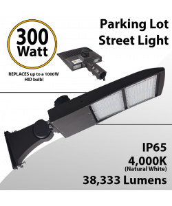 LED Parking Lot Light Street Light 38333Lm 4000K UL IP65 DLC
