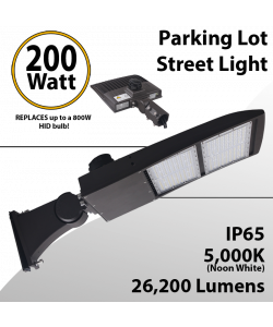 Street Light LED 200W Shoebox or parking lot fixture 26200Lm 5000K UL IP67 DLC