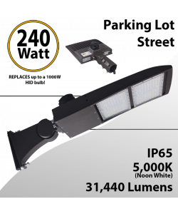 LED Street Light fixture 240W 31440Lm 5000K UL IP67 DLC