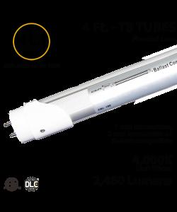 LED Tube light 18W 2460Lm, 4000K Frosted IP40 UL DLC Hybrid 1-2