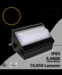 LED Wall Pack Light Half cut-off 80W 10950Lm DLC 5000K