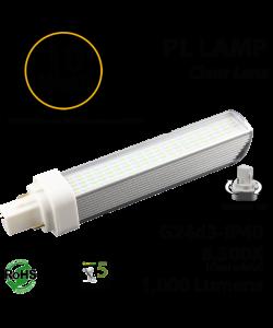 10W PL LED Bulb lamp 1000Lm 6500K G24-d3 IP40 UL.  Direct Line (Remove Ballast)