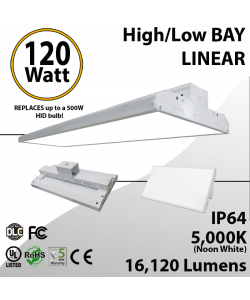 High Bay LED Light 2Ft. 120W 16120 Lumens 5000K UL DLC