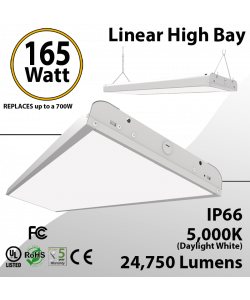 4Ft LED Linear High Bay 165W 24750 Lm 5000K