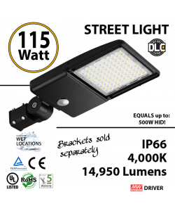 115W LED Street Light Cobra: 14950Lm 4000K UL IP66 DLC