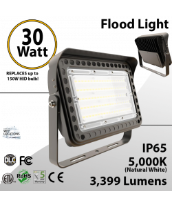 LED flood light 30W 5000K with yoke mount 3999 lumens