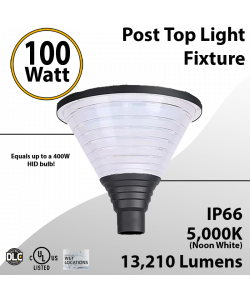 Top Post Light 100W LED 13210 Lumen 5000K