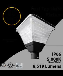 Top Post Light 60W LED 8519 Lumen 5000K Square