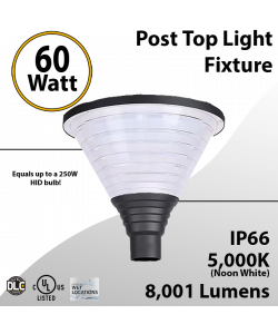 Top Post Light 60W LED 8001 Lumen 5000K