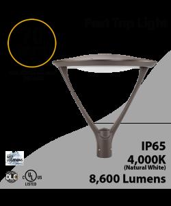 Post Top Light 70W LED 8600 Lm 4000K Dark Bronze
