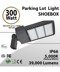 300 Watt LED Pole Head 39000Lm equal 1400W MH