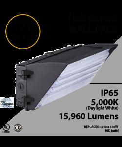 Semi Cutoff Wall Pack 15960 Lumens 120W 5000K IP65 UL DLC
