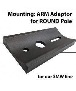 Mounting: Adaptor for Round pole for SMW series