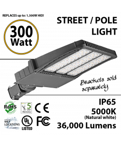 300W LED Shoebox / Street Light / Pole mount fixture 36000 Lumens 5000K UL IP65