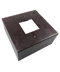 Square post base cover