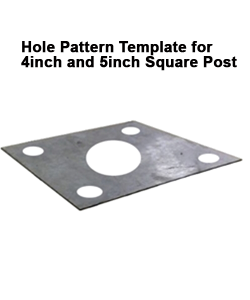 """Hole Pattern Template for 4"""" and 5"""" Square Light Pole"""