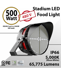 Stadium Lights Sports Lamp 500W 480V 65775 lumens IP66 UL DLC
