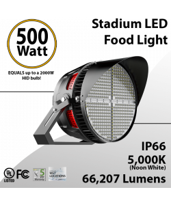 Stadium Lights Sports Lamp 500W 66207 lumens IP66 UL DLC