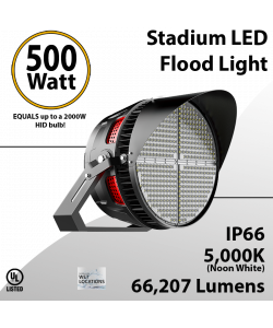 Stadium Lights Sports Lamp 500W 65775 lumens IP66 UL DLC