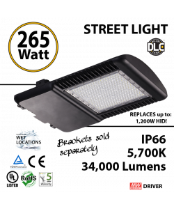 265W LED Street Light Cobra: 34000Lm 5700K IP66 UL