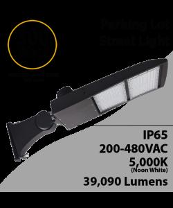 Street Light fixture LED 300W 480V 39090Lm 5000K UL IP67 DLC