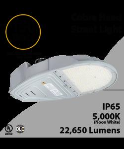 Cobra Head Street Light 150W 22650Lm 5000K UL IP65 DLC