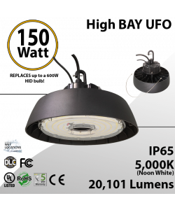 UFO High Bay LED Light 150 Watt 20101 Lumens 5000K UL & DLC