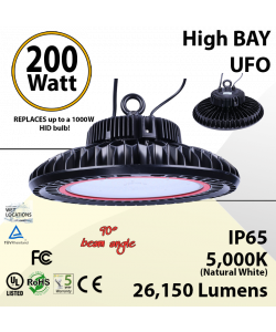 1000 Watt hid Replacement with 200W LED UFO light 5000K