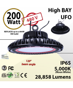 200W 480V UFO replace up to 800W MH 5000K