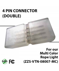 Double connector for multi color rope light (ZZS-VTN-08007-MC)