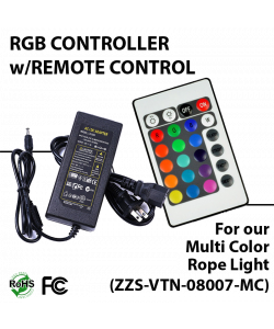 Remote control for multi color rope light (ZZS-RGB-08007-MC)