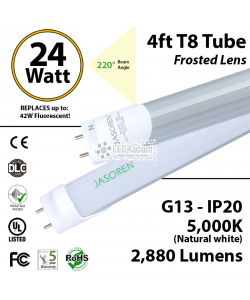 24W LED Tube-1 Sd-4ft-PC 5000K 2880 Lm Non-Dimmable Frosted