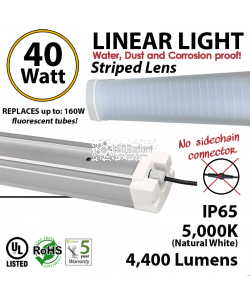 Tri proof shop linear light replacement for 4 32W fluorescent tubes