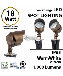 18W, Low Voltage Lighting, LED Directional Light, 2300K, 12v