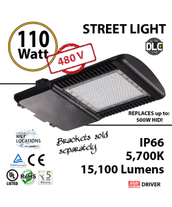110W LED Street Light Cobra: 15100Lm 5700K UL IP66 480V