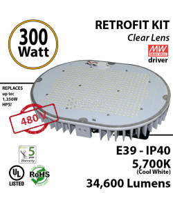 300 Watt LED 1300w Halogen Replacement 34600 Lumens 480 volts