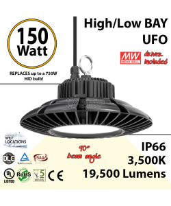 150 Watt LED 700w Halogen Replacement 19500 lumens 110V