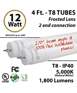 12w LED tube replaces 32 Watt fluorescent